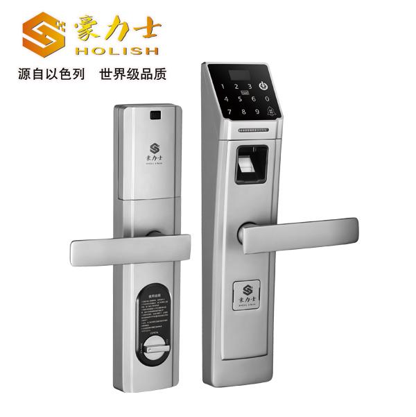 D5688F时尚银指纹门锁