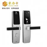 D3633F-时尚银指纹密码锁