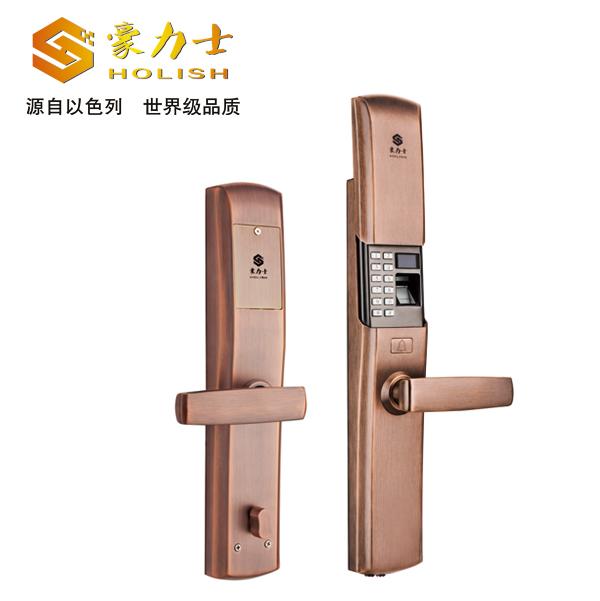 L1990F红古铜指纹密码锁