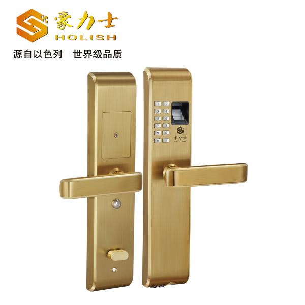 L1818F金色指纹锁_指纹锁厂家