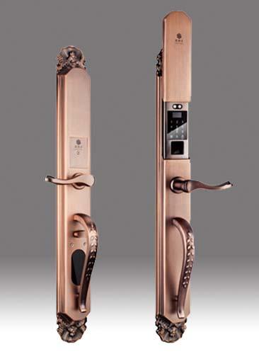相对于其他锁指纹锁更安全更高端