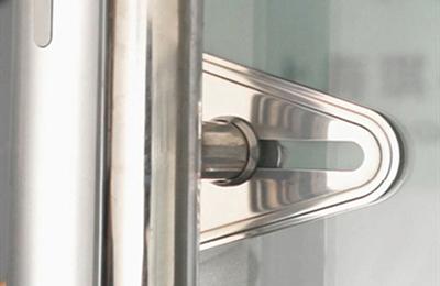 豪力士玻璃门指纹锁安装7