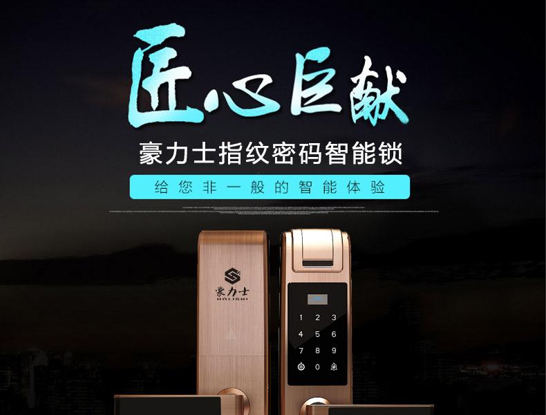 豪力士智能锁厂家 D8202F新品上市