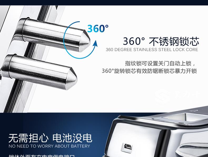 豪力士玻璃门锁D2013F新品上市-智能锁厂家